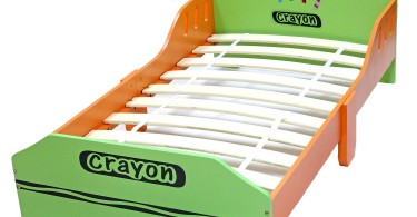 BeBe Style Crayon Wooden Kids Bed