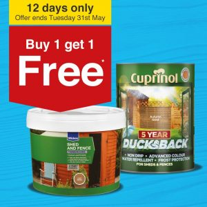 Buy 1 get 1 Free On Wickes Decking And Woodcare