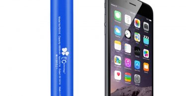 EC Technology 6000 mAh External Battery with Built-in LED Flashlight for Smartphones