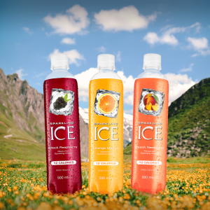 Free 500ml 'Sparkling Ice' flavoured sparkling water