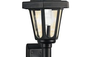 HOME Black Solar Outdoor Wall Light
