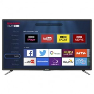 Sharp  48 inch LC-48CFF6001K Smart Full HD 1080p LED TV with Freeview HD