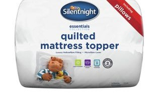 Silent Night Matress Topper & Pillow Set