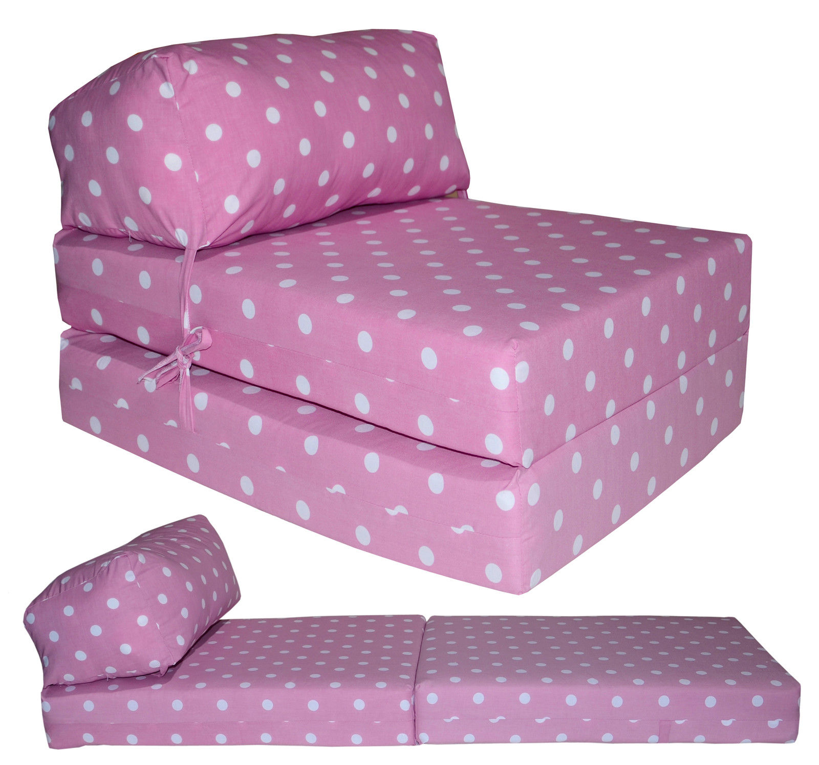 Cotton print fold out chair bed £19 99 plus £5 95 delivery