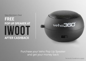 Free Pop Up Portable Veho 360 Speaker